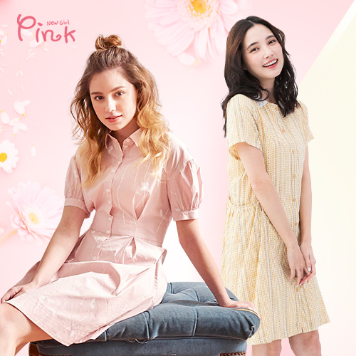 Pink  夏季流行少女服裝