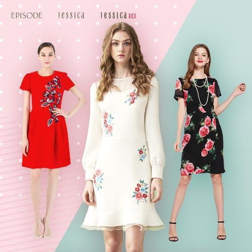 JESSICA x EPISODE 春季新款洋裝/針織/雪紡